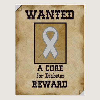 Wanted: A Cure for Diabetes Postcard