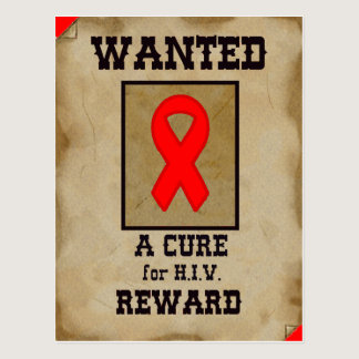 Wanted: A Cure for HIV Postcard