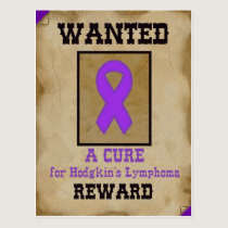 Wanted: A Cure for Hodgkin's Lymphoma Postcard