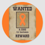 Wanted: A Cure for Leukemia Stickers