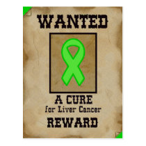 Wanted: A Cure for Liver Cancer Postcard