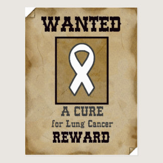 Wanted: A Cure for Lung Cancer Postcard