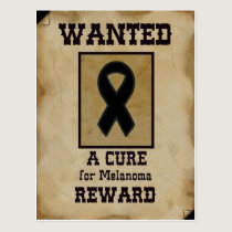 Wanted: A Cure for Melanoma Postcard
