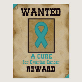 Wanted: A Cure for Ovarian Cancer Postcard