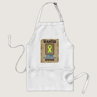 Wanted: A Cure for Testicular Cancer Adult Apron