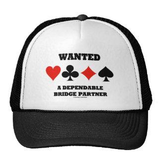 Wanted A Dependable Bridge Partner (Card Suits) Trucker Hat