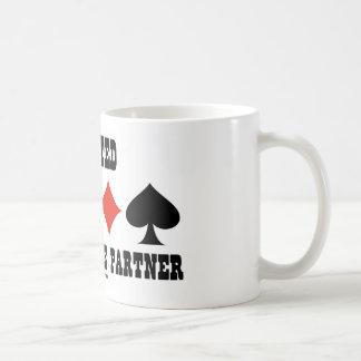 Wanted A Good Bridge Partner (Bridge Attitude) Classic White Coffee Mug