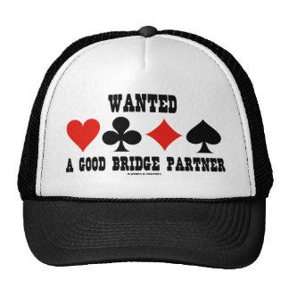 Wanted A Good Bridge Partner (Bridge Attitude) Trucker Hat