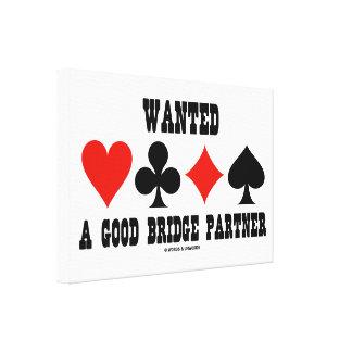 Wanted A Good Bridge Partner Card Suits Bridge Canvas Print