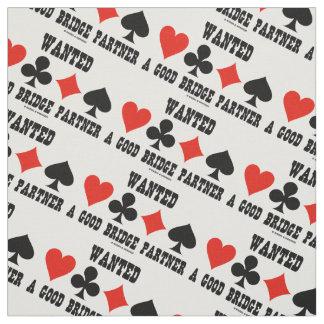 Wanted A Good Bridge Partner Card Suits Bridge Fabric