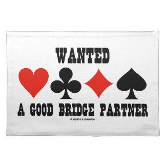Wanted A Good Bridge Partner Card Suits Bridge Cloth Placemat