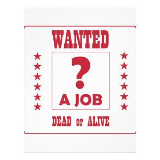 Wanted... a Job ! Flyer