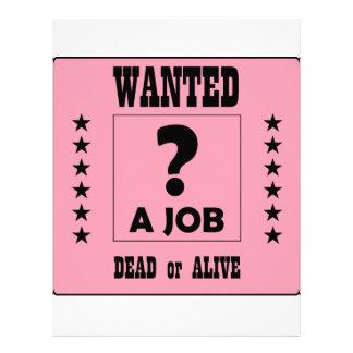 Wanted... a Job ! Letterhead Template