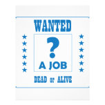 Wanted... a Job ! Letterhead