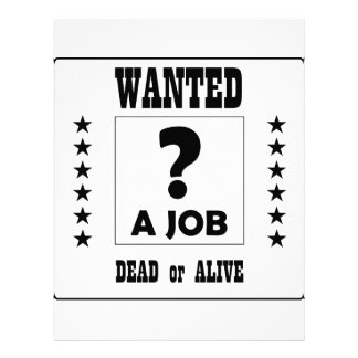 Wanted... a Job ! Customized Letterhead