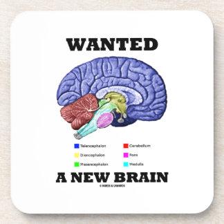 Wanted A New Brain (Anatomical Brain Attitude) Coasters