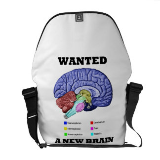 Wanted A New Brain (Anatomical Brain Attitude) Courier Bag