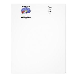 Wanted A New Brain (Anatomical Brain Attitude) Letterhead Design