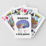 Wanted A New Brain (Anatomical Brain Attitude) Bicycle Playing Cards