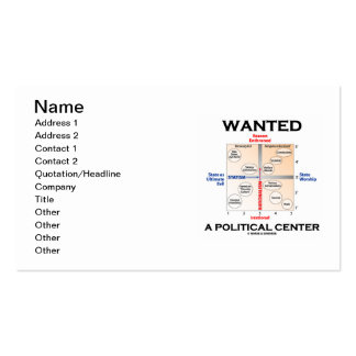 Wanted A Political Center (Pournelle Chart) Business Card