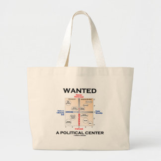 Wanted A Political Center (Pournelle Chart) Large Tote Bag