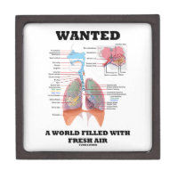 Wanted A World Filled With Fresh Air (Respiratory) Premium Keepsake Boxes