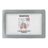 Wanted A World Filled With Fresh Air (Respiratory) Rectangular Belt Buckle