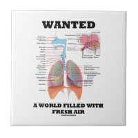 Wanted A World Filled With Fresh Air (Respiratory) Small Square Tile