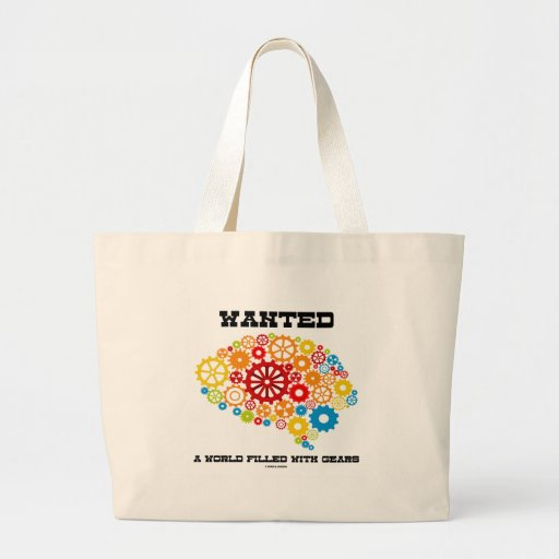 Wanted A World Filled With Gears (Brain Gears) Jumbo Tote Bag