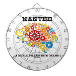 Wanted A World Filled With Gears (Brain Gears) Dartboard With Darts