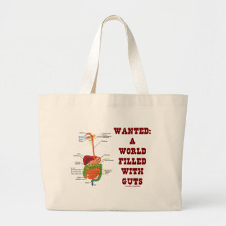 Wanted A World Filled With Guts (Digestive System) Jumbo Tote Bag