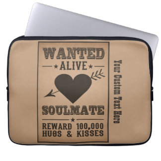WANTED ALIVE: SOULMATE laptop sleeves