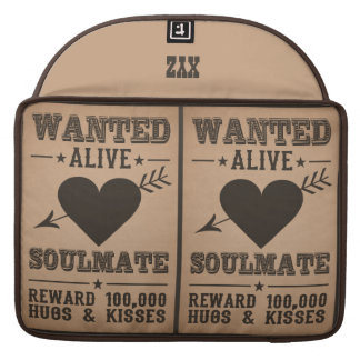 WANTED ALIVE: SOULMATE MacBook sleeves