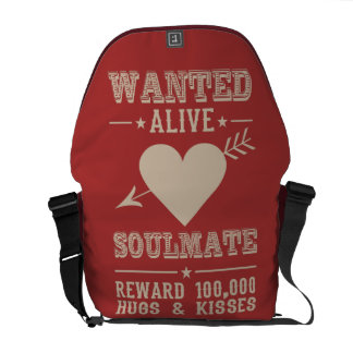 WANTED ALIVE: SOULMATE messenger bag