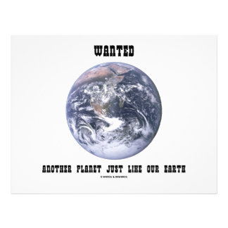 Wanted Another Planet Just Like Our Earth Flyer Design