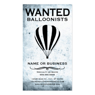 wanted : balloonists business card