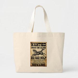 Wanted: Big Bad Wolf Canvas Bag
