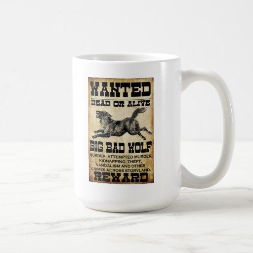 Wanted: Big Bad Wolf Classic White Coffee Mug
