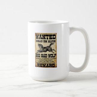Wanted Big Bad Wolf Coffee Mugs