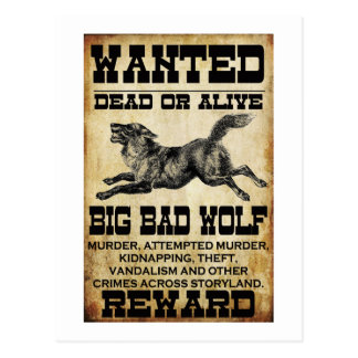 Wanted: Big Bad Wolf Postcards