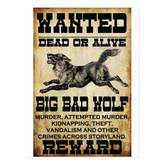 Wanted: Big Bad Wolf Postcard