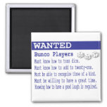 wanted bunco players magnets