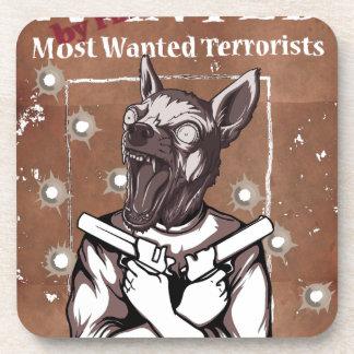 Wanted By FBI Animal Crazy Dog Beverage Coaster