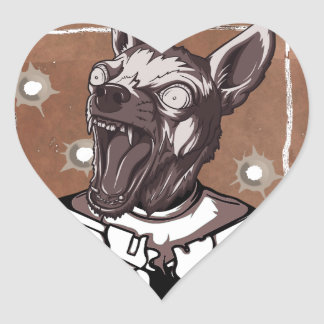 Wanted By FBI Animal Crazy Dog Heart Sticker