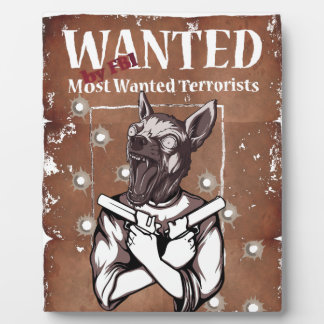 Wanted By FBI Animal Crazy Dog Plaque