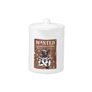 Wanted By FBI Animal Crazy Dog Teapot