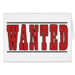 Wanted Card-All Occasion