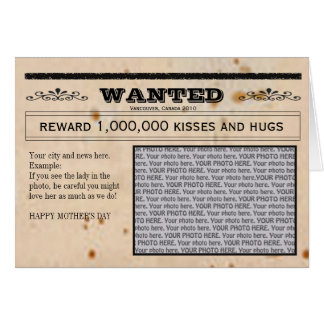 Wanted card frame