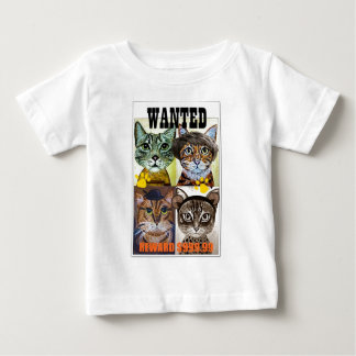 Wanted cat poster art baby T-Shirt
