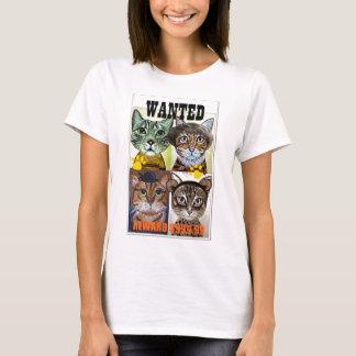 Wanted cat poster art T-Shirt